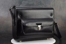 - Nikon Black Leather Gadget Bag w Camera Cradle & Lens Sockets, for F, F2