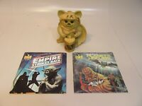 Star Wars Book&Record ''Empire Strike Back'' and ''Planet of the Hoojibs'' Ewok
