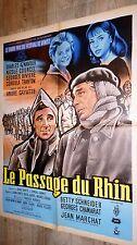LE PASSAGE DU RHIN ! andre cayatte c aznavour affiche cinema 1960