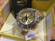20158 Invicta Subaqua Noma III Swiss Quartz Chronograph 18KT GP Bracelet Watch