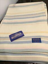 Beautiful PENDELTON virgin wool striped blanket NEW MADE IN USA