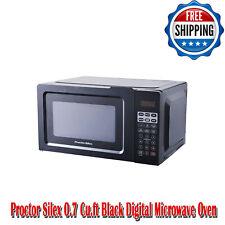 Proctor Silex 0.7 Cu.ft Black Digital Microwave Oven, Small Kitchen Appliances
