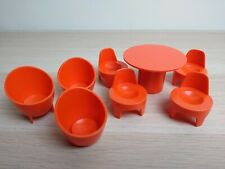 Vintage Weebles House Furniture Chairs Table Airfix 1970's Retro