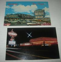 Vintage 2 LOT STARDUST Hotel Casino Las Vegas Nevada Postcards 50's Cars UNPOST