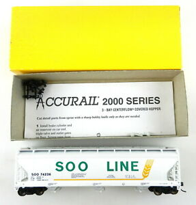 Accurail HO 2018 ACF 3-Bay Covered SOO Line ~Upgrade Built~  T103