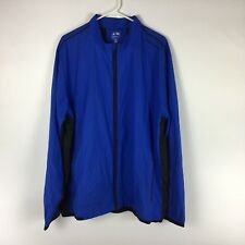 Adidas Mens Size XXL Climaproof Vivid Blue Vented Golf Jacket Windbreaker. B6