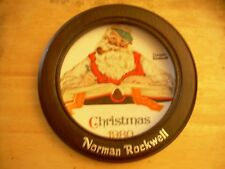 "Norman Rockwell 1980 Christmas Plate,""Checking His List"" Vintage  rare edition"