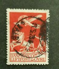 Denmark, Danmark, 1925 25 ore airmail stamp used