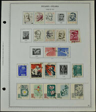 Poland 1957 Page Of Stamps #V10484
