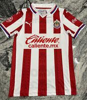 Puma Chivas Del Guadalajara 2021 Home Soccer Jersey Mexico Coca Cola