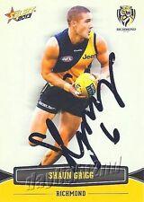✺Signed✺ 2013 RICHMOND TIGERS AFL Card SHAUN GRIGG
