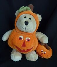 Starbucks Bearista Bear Plush Trick Treat Pumpkin in Costume 2008 Halloween