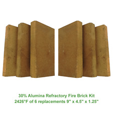 30% Alumina Refractory Fire Brick Kit 2426°F of 6 replacements 9