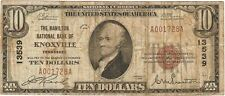 $10 Hamilton National Bank, Knoxville Tenn, TN, 1929Type 1, Charter # 13539
