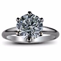 2.10 Carat Round Cut Diamond Engagement Solitaire Wedding Ring FSI2