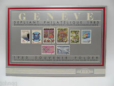 United Nations UN Souvenir Stamp Folder - 1983, Geneva, MNH Scott 113-120
