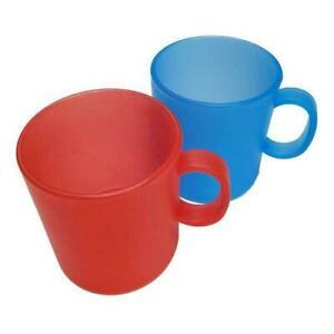 Westmark Kunststoff-Becher Camping-Geschirr Kaffeebecher 0,3 l  rot oder blau