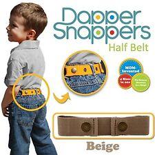 Dapper Snapper Baby & Toddler Adjustable Belt-Beige Made In Usa Dapper Snappers