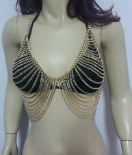 Pretty Bikini Gypsy Top Harness tassel Bra Body Chest Chain Necklace Jewelry