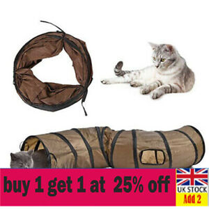 2 Way Pet Cat Tunnel Toy Rabbit Pop Up Tube Collapsible Puppy Kitten Play Toy da