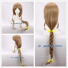 The Legend of Zelda Twilight Princess long brown Cosplay Wig +free wig cap
