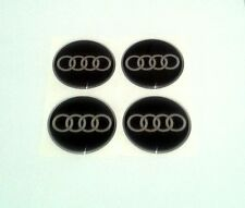 AUDI Wheel Center Hub Caps Silicone Badge Emblem Stickers 4x55mm