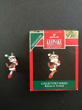 1992 Hallmark Christmas Miniature Ornament, Kittens In Toyland Collectors Series