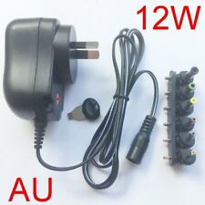 New 12W  plug AC/DC Universal power adapter 3V/4.5V/5V/6V/7.5V/9V/12V 1A 1.2A AU