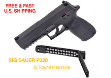 SIG SAUER P320 .177m Pellet Air Pistol 430fp 3ORD Steel Slide FULL BLOWBACK