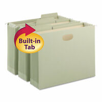 Smead FasTab TUFF Hanging Pockets with Reinforced Tabs Letter Moss 9/Box 64224