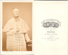 CDV Franck, Paris, Prêtre, évêque en superbe soutane de dentelle blanche, circa