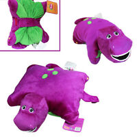 "Cute ! Barney Dinosaur 12"" x 12"" Cushion Pillow Soft Plush Doll"
