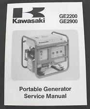 KAWASAKI GE2200 GE2900 PORTABLE GENERATOR SERVICE MANUAL MINTY