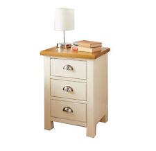 Elegante crema in legno massello 3 cassetti letto Side Table Armadio Lampada sul petto