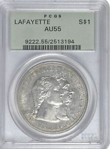 Lafayette $1 PCGS 55 OGH