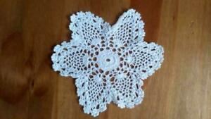 5 Inch Star Shape 100% Cotton Doilies Lace Embroidery Round Table Mat New