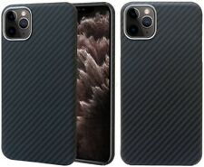 For iPhone 11 pro Max Real Carbon Fiber Rugged Case Urltra-Light 3D-Grip Cover