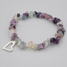 Flourite Bracelet Women Ladies Crystal Gemstone Love Reiki Healing Chakra Heart