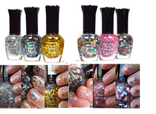KLEANCOLOR NAIL POLISH GLITTER HALF COLLECTION  LOT OF 6 BEST COLORS! LACQUER 29