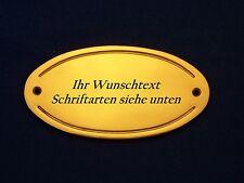 Namensschild, Türschild Messing 9,8 cm x 5,0 cm mit Wunschgravur