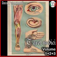 anatomia vintage libro medicina antica tarocchi mazzi di carte rari collezione