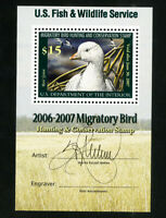 US Stamps # RW73b DUCK XF Includes signature OG NH