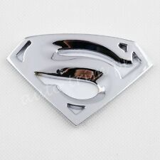 Chrome Accessories 3D Emblem Badge Decal Sticker Superman Decorate Car Bike Trim