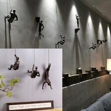 Rock Climbing Men Sculpture Wall Hanging Decorations Resin Statue Figurine Craft