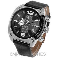 *NEW* DIESEL MENS OVERFLOW CHRONOGRAPH BLACK WATCH - DZ4341 - RRP £145.00