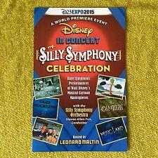 D23 Expo 2015 Disney In Concert Silly Symphony Celebration- (Symphonies) Program