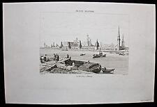 Moskau, Moscou. Panorama mit Kreml - Stich - Kupferstich 1837