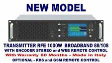 Broadcast Professional 1000w FM Stereo RDS Trasmettitore larga Banda 88 108 Mhz