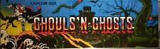 "Ghouls n Ghosts Arcade Marquee 26""x8"""