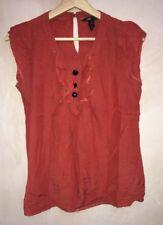 Ladies Burnt Orange Blouse Round Neckline Size 10 H&M<NH6793